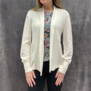 August Silk cardigan sweater off white S M L XL